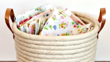 Amazing DIY No Sew Rope Baskets