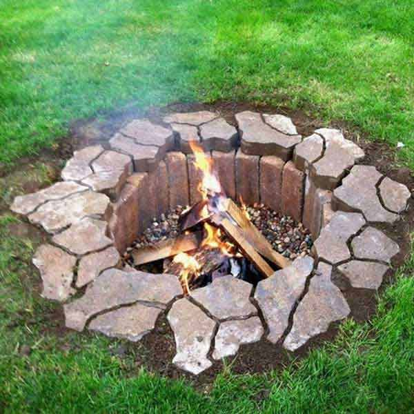Amazing Inground Fire Pit, DIY Fire Pit Ideas