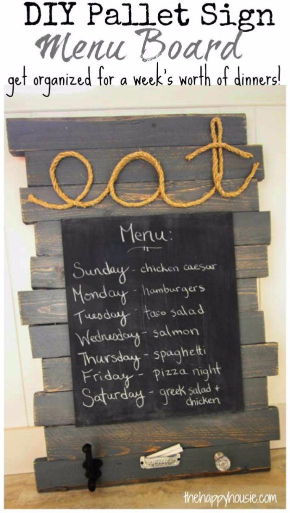 DIY Pallet proejcts That Are Easy to Make and Sell ! DIY Pallet Sign Menu Board