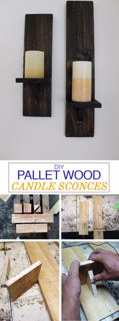 DIY Pallet proejcts That Are Easy to Make and Sell ! DIY Pallet Wood Candle Sconces