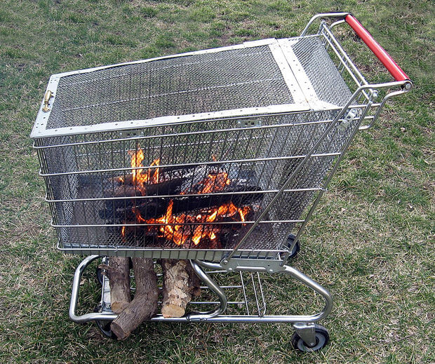 DIY Portable Fire Pit With Built in Log Storage Rack, DIY Fire Pit Ideas