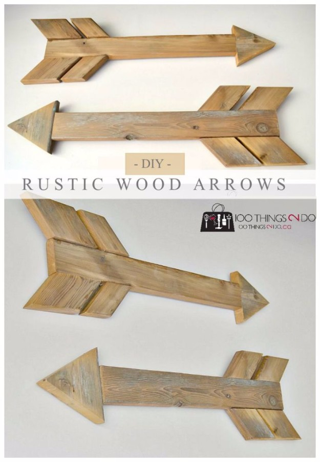 DIY Pallet proejcts That Are Easy to Make and Sell ! DIY Rustic Wood Arrows