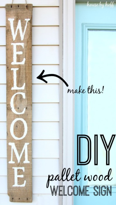 DIY Pallet proejcts That Are Easy to Make and Sell ! DIY Wood Pallet Welcome Sign