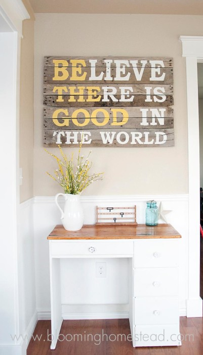 DIY Pallet proejcts That Are Easy to Make and Sell ! Inspirational Sign Pallet DIY