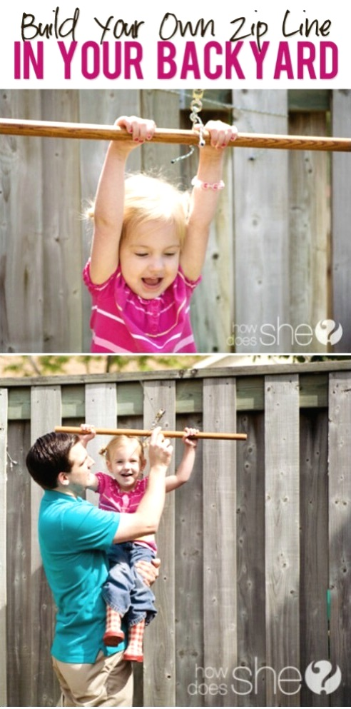 Create a Zip Line for Your Kids, DIY Backyard Games Perfect For Summer
