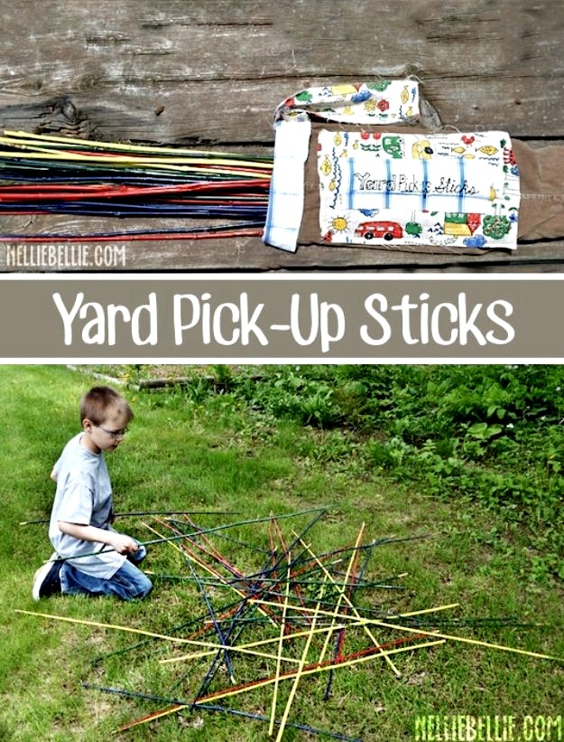 Giant Pick Up Sticks, DIY Backyard Games Perfect For Summer