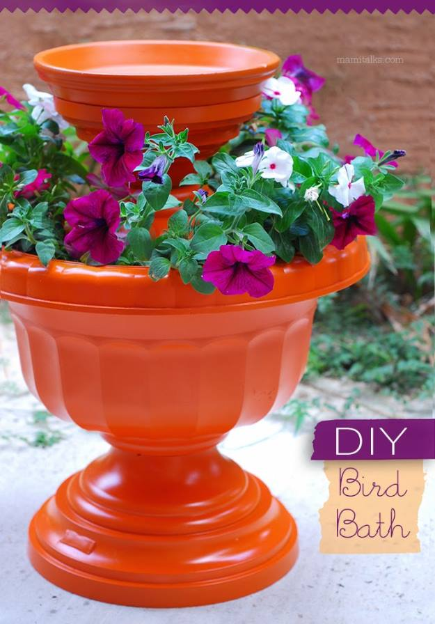 DIY Bird Bath, Front Yard Landscaping Ideas and projects