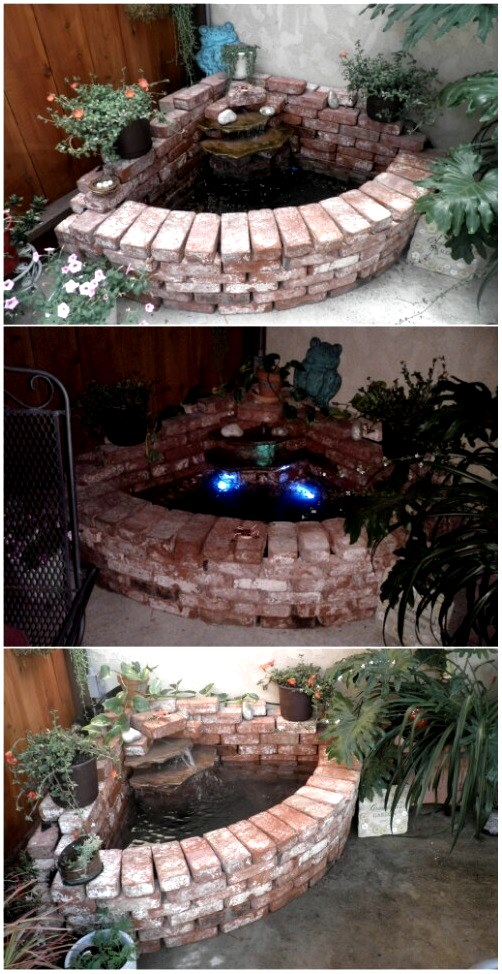 Brick Waterfall, DIY Yard Brick Projects