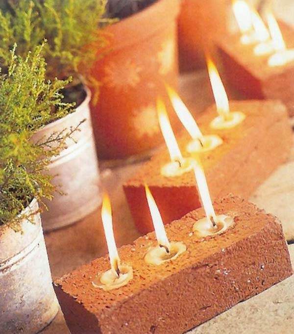 DIY Brick Tea Lights