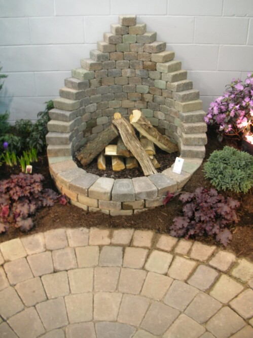 Stylish Brick Fire Pit, DIY Yard Brick Projects
