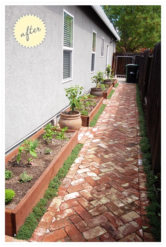 DIY Yard Brick Projects, Side Yard: Gravel to Garden