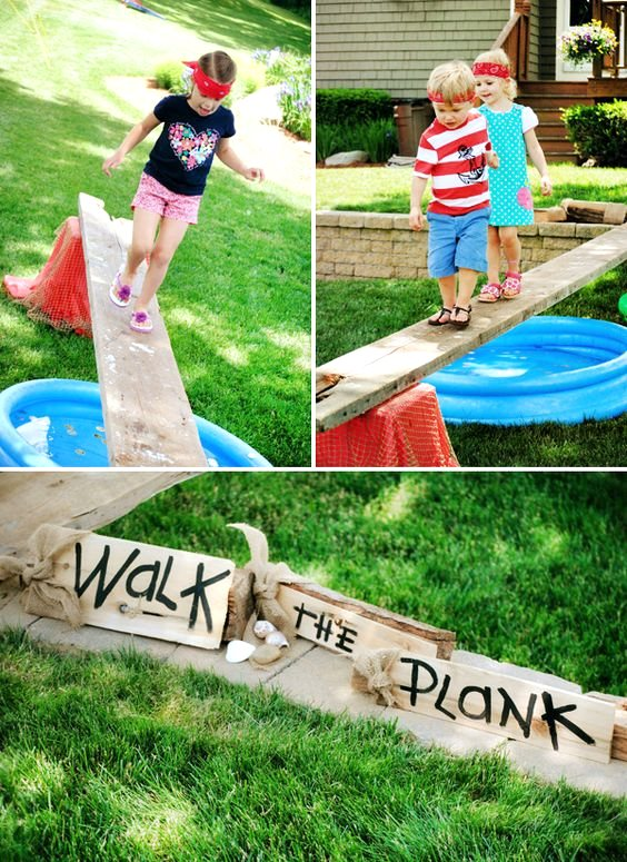 Walk the Plank Game, DIY Backyard Games Perfect Fo